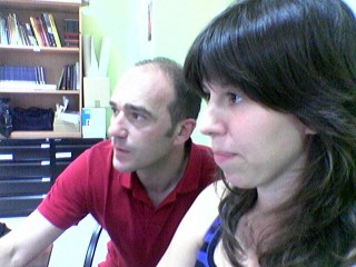 JAVIER ROMEO Y ELISA CUARTIELLES, DOS PROFESIONALES ADMIRABLES QUE ME HAN TOCADO EN SUERTE PARA ILUSTRAR LA GUÍA DEL JARDÍN BOTÁNICO