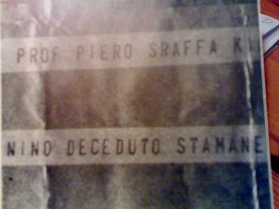 GRAMSCI: TELEGRAMA DE TATIANA SCHUCHT A PIERO SRAFFA COMUNICÁNDOLE LA MUERTE DE SU AMIGO GRAMSCI